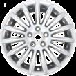"""Jante en alliage 17"""" modèle 15 branches, Sparkle Silver"""