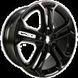"Alufelg 19"" 5 x 2-eiket design, Panther Black"