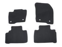Premium velúrové rohože predné a zadné, čierne