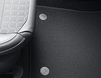 Carpet Floor Mats black, front