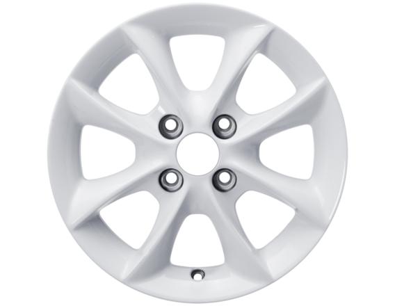 """Lichtmetalen velg 14"""" 4x2-spaaks design, Frozen White"""