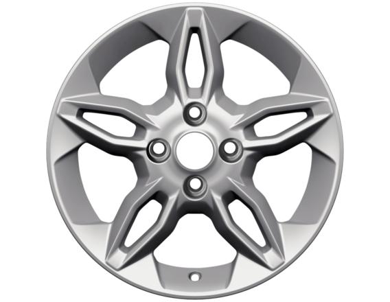 """Lichtmetalen velg 16"""" 5 x 2-spaaks design, zilver"""