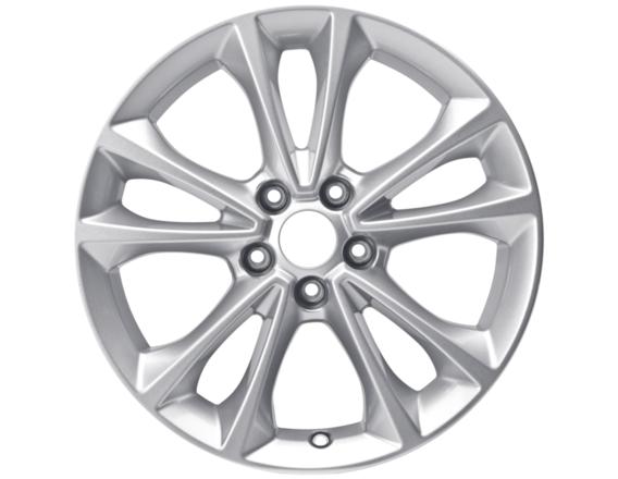 """Lichtmetalen velg 17"""" 5x2-spaaks design, zilver"""
