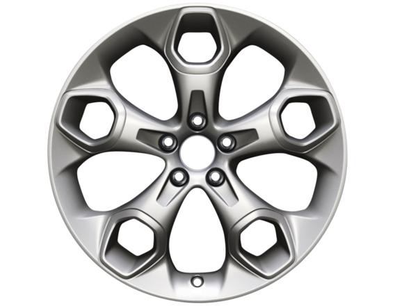 """Lichtmetalen velg 19"""" 5-spaaks design, zilver"""