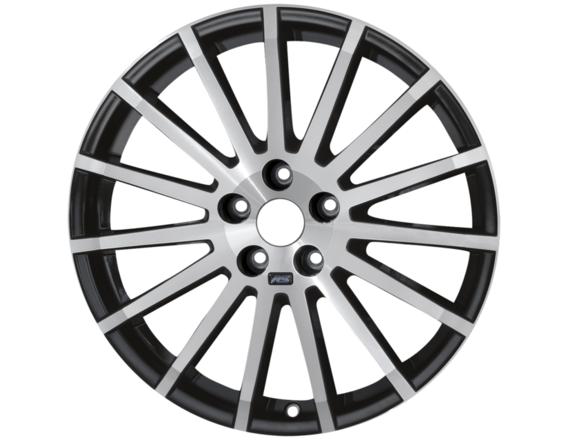 """Lichtmetalen velg 18"""" 15-spaaks RS-design, gepolijst zwart"""