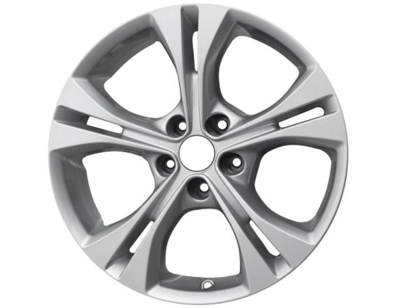 "Lichtmetalen velg 17"" 5x2-spaaks design, Sparkle Silver"