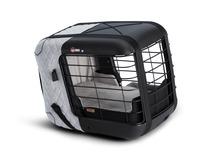 4pets®* Caree transportbur til katte og hunde, fastgøres sikkert på alle passagersæder, Cool Grey