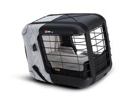 4pets®* Jaula de Transporte Caree Para transportar cães e gatos e ser fixada em qualquer banco de passageiro, na cor Cinza Azulado