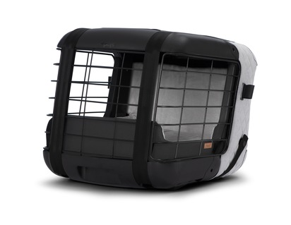 4pets®* Caree Transport Box For cats and dogs to be securely fixed onto most passenger seats, Cool Grey