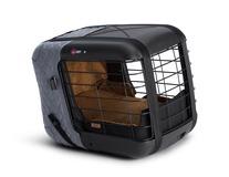 4pets®* Caree transportbur til katte og hunde, fastgøres sikkert på alle passagersæder, Smoked Pearl