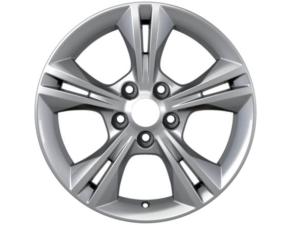 """Lichtmetalen velg 16"""" 5x2-spaaks design, zilver"""