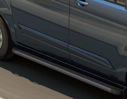 ARP* Stopnie nadwozia wykonane z aluminium o wysokiej wytrzymałości z czarnymi, wytłaczanymi pokrywami końcowymi