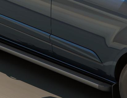 ARP* Stopnie nadwozia wykonane z aluminium lotniczego o wysokiej wytrzymałości z czarnymi, wytłaczanymi pokrywami końcowymi