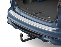 Ochranná lišta prahu zavazadlového prostoru hladká, tvarovaná, z nerezové oceli