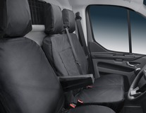 HDD* Seat Cover for dual passenger seat, black