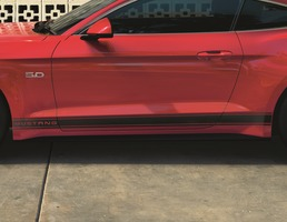 Ford Performance Tri-Bar Side Stripes with Mustang lettering, Matt Black