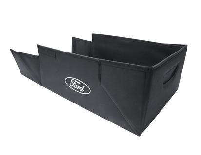 Foldbar transportboks sort stof, med hvid Ford oval på begge sider