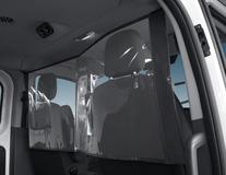 Fleksibel vægadskillelse Beskyttelsesskærm, gennemsigtig