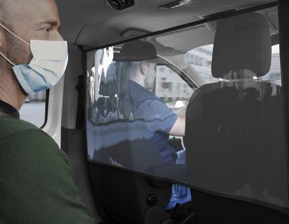 Flexibler Innenraumteiler Schutzschild, transparent