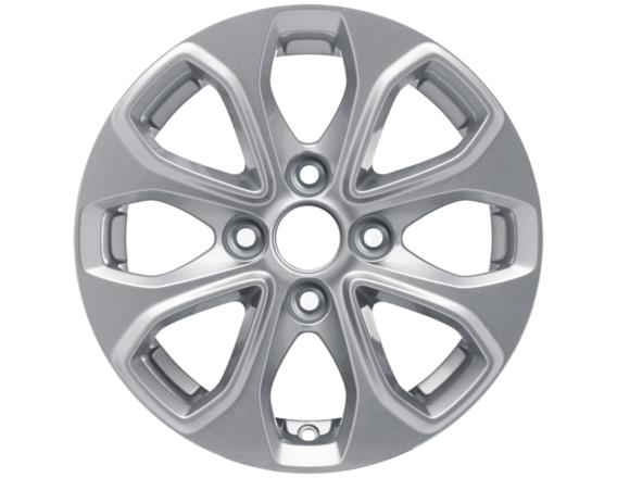 """Lichtmetalen velg 14"""" 8-spaaks design, zilver"""