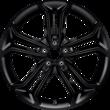 "Alufelg 19"" 5 x 2-eiket design, Absolute Black"