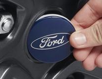 Enjoliveur de moyeu bleu, avec logo Ford