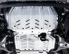 Motorskjold mot sprut sett for motor og radiator, aluminium