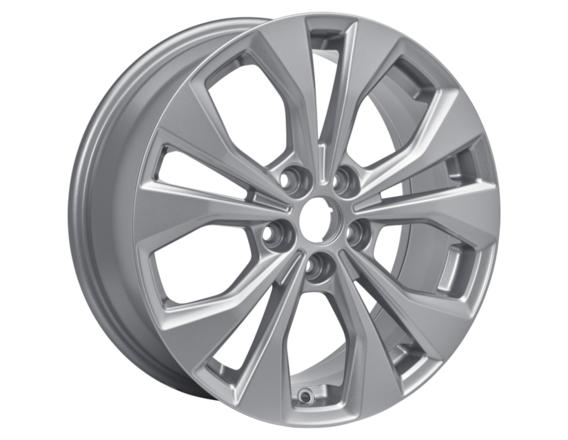 "Lichtmetalen velg 17"" 5 x 2-spaaks design, Sparkle Silver"