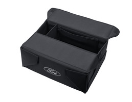 Foldable Organizer Box black fabric, with white Ford oval on both sides