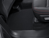 Velour Floor Mats front and rear, black