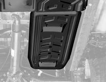 Metalloproduktsia* Ochranný kryt motoru pro palivovou nádrž, ocelový
