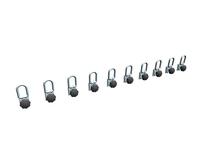 Sistem de reţinere a încărcăturii  perete despărţitor glisant cu cârlige de ancorare