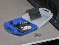 Set zur Ladungssicherung in blauer/durchsichtig-weißer Box