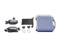 Pack de fixation de chargement Coffre bleu et blanc translucide