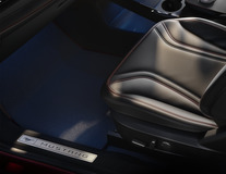 Premium Velours Floor Mats front, black