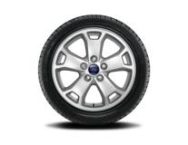 """Vinter-komplethjul, alufælg 16"""" 5 x 2-eget design, sølv"""