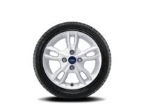 """Vinter-komplethjul, alufælg 15"""" 5 x 2-eget design, sølv"""