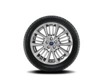 """Vinter-komplethjul, alufælg 18"""" 5 x 4-10-eget design, sølv"""