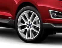 "Alloy Wheel 20"" 5 x 2-spoke Y design, Polished Face/Dark Stainless Pockets"