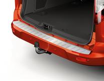 Takapuskurin kuormasuoja suojakalvo, harjatun alumiinin tyylinen, Connect-logolla