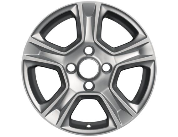 """Lichtmetalen velg 15"""" 5-spaaks design, zilver"""