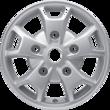 "Alloy Wheel 16"" 5 x 2-spoke design, sparkle silver"