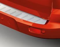 Protezione carico paraurti posteriore pellicola, stile alluminio spazzolato, con logo Connect