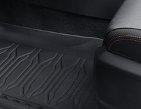 Rubber Floor Mats in tray style, front and rear, black