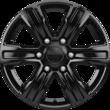 "Lichtmetalen velg 17"" 6-spaaks design, Panther Black"
