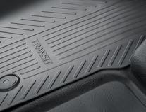 Rubber Floor Mats front, black