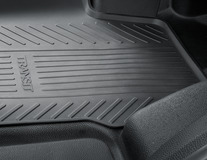 Rubber Floor Mats front, black, manual transmission