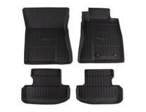 Rubber Floor Mats tray style design, front and rear, black