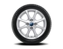 """Vinter-komplethjul, alufælg 15"""" 8-eget design, sølv"""