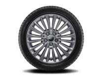 """Vinter-komplethjul, alufælg 17"""" 10 x 2-eget design, sølv"""